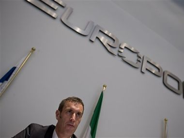 File picture of Britain's Rob Wainwright, director of the European police agency Europol. AP