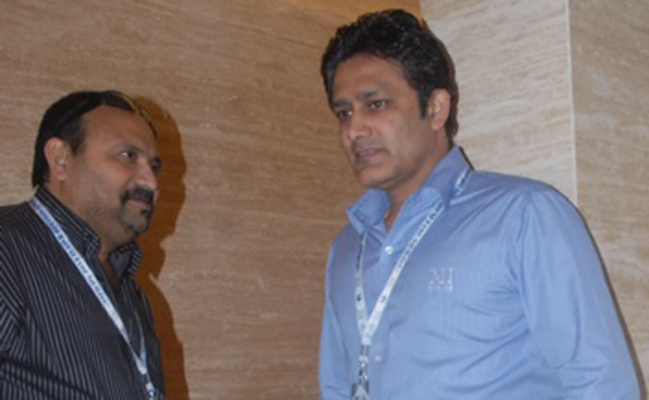 Anil Kumble at the IPL auctions. Firstpost