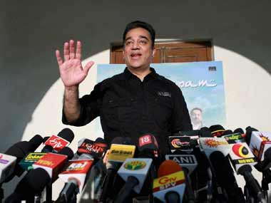 Haasan appeared on many English news networks on Thursday. PTI