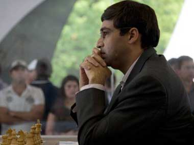 Anand was held to a draw by Gelfand. AFP