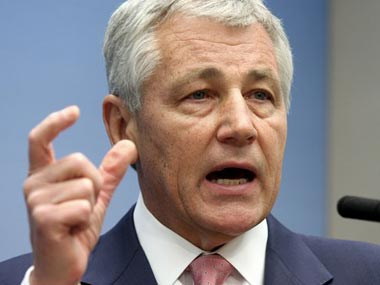 US defence secretary nominee Chuck Hagel. AP