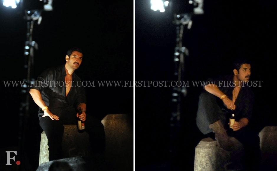 John Abraham filming a sequence for his film Shootout At Wadala at Nariman Point, Mumbai. Sachin Gokhale/Firstpost