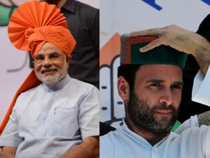 Rahul Gandhi or Narendra Modi - who is better suited to become PM? AFP.