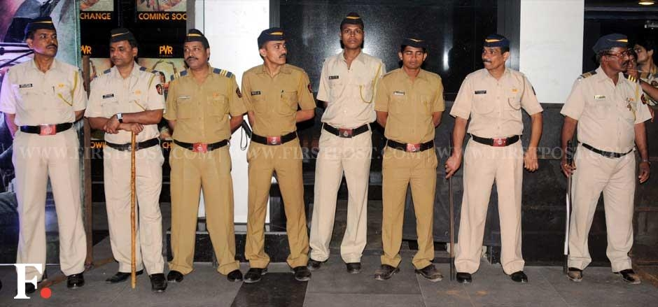 The police security during the premiere of Midnight's Children. Sachin Gokhale/Firstpost