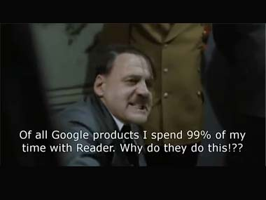 The death of Reader has been hard on Hitler