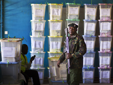 Election officials in Kenya start hand counting ballots