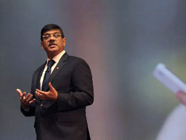 Managing Director for BlackBerry India, Sunil Dutt speaks at the country launch of the BlackBerry Z10 in Mumbai. AFP