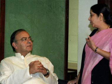 Agreeing to disagree: Jaitley and Swaraj have said the appointment violates norms. PTI