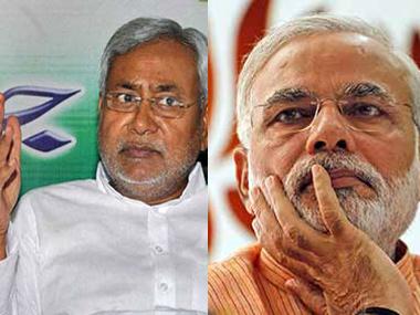 Nitish Kumar and Narendra Mod.