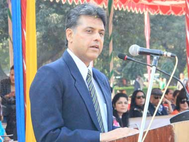 Union Information and Broadcasting Minister Manish Tewari. Image courtesy PIB