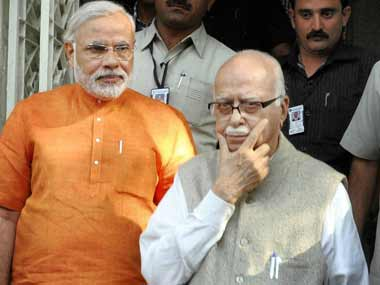 LK Advani's absence at Goa makes for bad political optics for the BJP. PTI