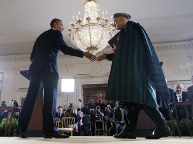 Obama Karzai discuss transition during US pullout from Afghanistan