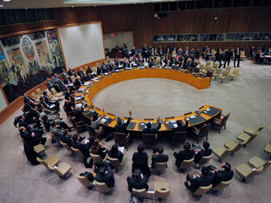 United Nations Security Council. AFP image