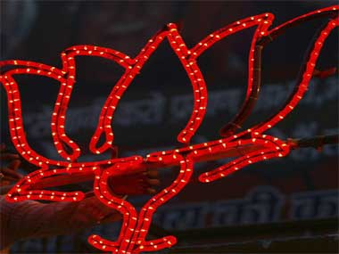 The BJP symbol is seen in this file photo. Reuters