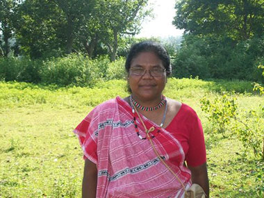 Dayamani Barla, a rousing voice against displacement, is also an outspoken critic against the injustices Adivasi communities face. Image credit: Cultural Survival.