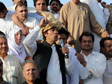 Imran Khan's party is expected to be the big gainer in this election. AFP