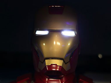 Iron Man wearing his mask. Picture courtesy: Facebook
