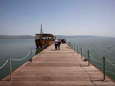 In this April 14, 2011 file photo, a boat is by the jetty of the Capernaum National Park in the Sea of Galilee in northern Israel. Image for representational purpose. AP