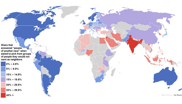 Painting India red Why the global racism map is wrong