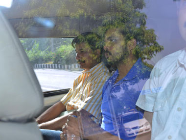 Sreesanth being produced at Saket court today. Naresh Sharma/ Firstpost