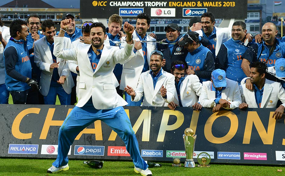 Photos: See Virat Kohli celebrate India's Champions Trophy win