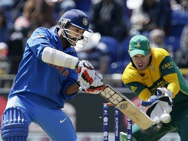 Dhawan was in sparkling form against SA. AP