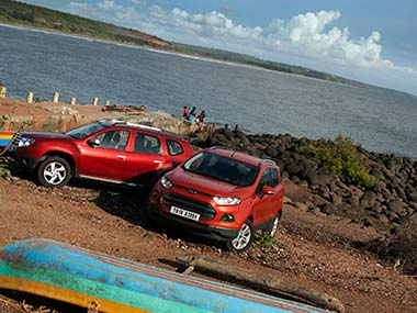 Duster vs EcoSport. Image from Overdrive