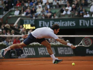Roger Federer was knocked out in the quarter-finals of the French Open. AP
