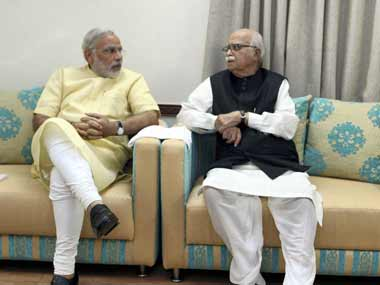 Modi and Advani have both been staunch Hindutva leaders. PTI
