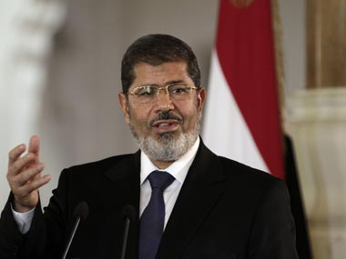 File photo of Egypt president Mohammad Morsi, who was one of the people liberated by the jailbreak. AP