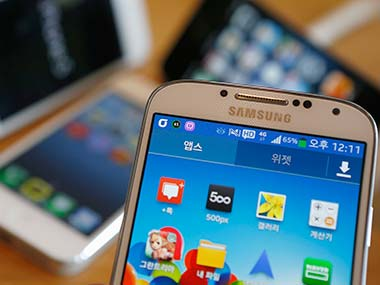 Samsung Galaxy S4 is seen in this file photo. Reuters