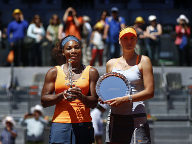 Serena Williams beat Maria Sharapova in the final of the Madrid Open earlier this year. AP