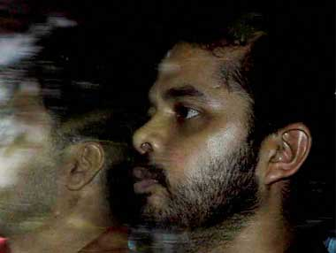 Sreesanth is presently in Tihar jail and seeking bail. PTI