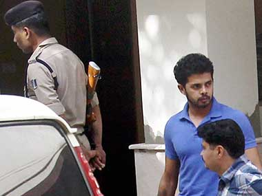 Sreesanth shortly after his arrest for fixing matches: PTI