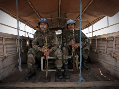 File image of UN peacekeepers. Reuters