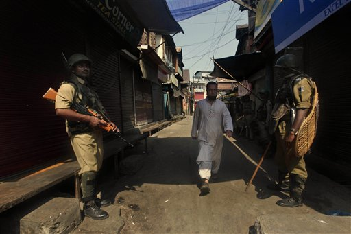 A file photo of Kashmir police. AP image