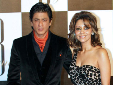 Shah Rukh Khan with wife  Gauri. AFP.