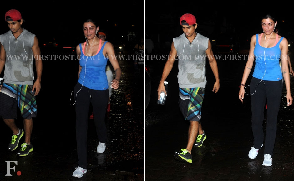 Sushmita Sen strolling at carter road at night. Sachin Gokhale/Firstpost