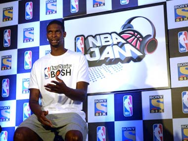 Chris Bosh was in India to promote the NBA. Getty Images