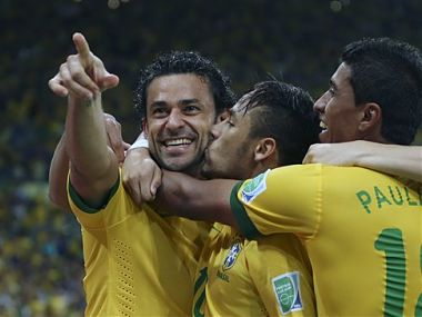 Fred scored five goals in the Confederations Cup. AP