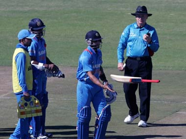 Virat Kohli was unhappy about being given out in the second ODI against Zimbabwe. AFP