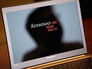 Lenovo logo is seen in this file photo. Reuters