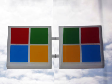 Microsoft logo is seen in this file photo. AP