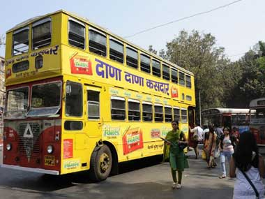 The double decker buses don't carry twice as many passengers. AFP
