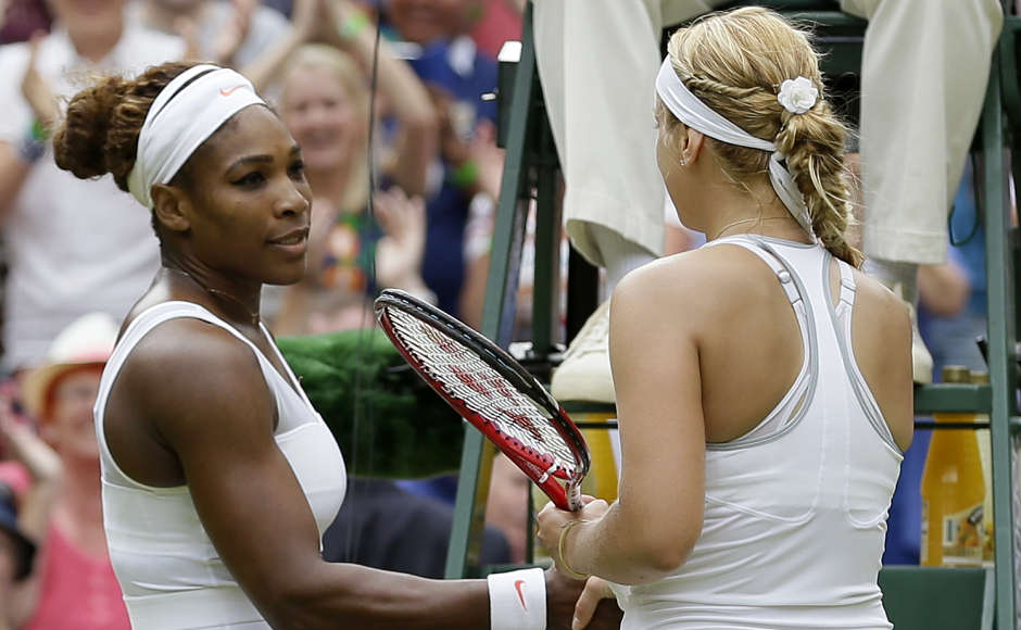 A mediocre 16-15 at the other three Grand Slam tournaments, Lisicki is 17-4 at the All England Club. She reached the semifinals at Wimbledon in 2011, and is into her fourth quarterfinal, coincidentally beating the reigning French Open champion every time: Svetlana Kuznetsova in 2009, Li Na in 2011, Maria Sharapova in 2012, and Williams in 2013. (AP Photo/Alastair Grant)