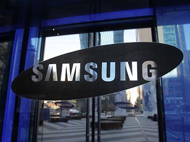 Samsung logo is seen in this file photo. Getty Images.