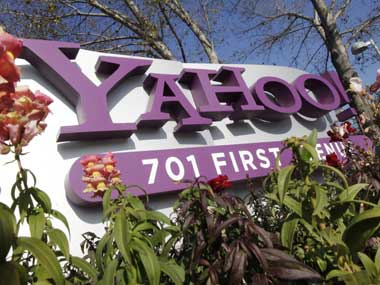 Yahoo logo is seen in this file photo. AP