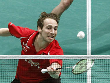 Denmark's Mathias Boe is one angry man. Reuters