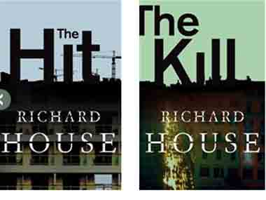 Covers of two books of Richard House's novel, The Kills. Image courtesy Pan Macmillan