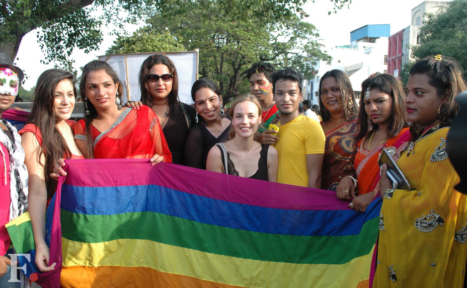 Members of the LGBT community in solidarity at the Chennai Pride Rally. Firstpost.
